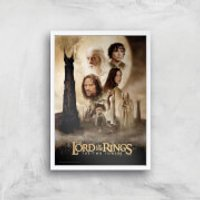 Lord Of The Rings: The Two Towers Giclee Art Print - A4 - White Frame - Rings Gifts