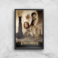 Lord Of The Rings: The Two Towers Giclee Art Print - A4 - Black Frame - Rings Gifts