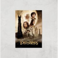 Lord Of The Rings: The Two Towers Giclee Art Print - A3 - Print Only - Rings Gifts