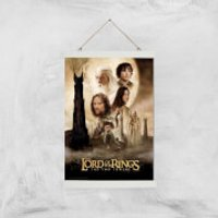 Lord Of The Rings: The Two Towers Giclee Art Print - A3 - White Hanger - Rings Gifts