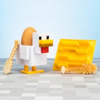 Minecraft Chicken Egg Cup and Toast Cutter - Minecraft Gifts