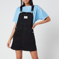 Calvin Klein Jeans Women's Overall Dress - Washed Black - S