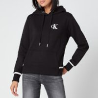 Calvin Klein Jeans Women's Embroidery Tipping Hoodie - CK Black - L