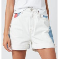 Tommy Jeans Women's Mom Shorts - Cloudy Light Blue - W29