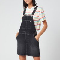 Tommy Jeans Womens Classic Dungaree Dress - Black Comfort - S