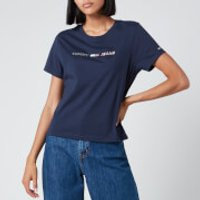 Tommy Jeans Women's Americana Logo T-Shirt - Twilight Navy - XS