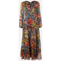RIXO Women's Lori Maxi Dress - Woodstock With Lurex - XS
