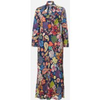 RIXO Women's Charlotte Midi Dress - Woodstock Navy - XS