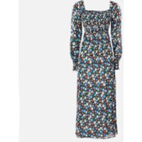 RIXO Women's Marie Midi Dress - Retro Micro Floral - M