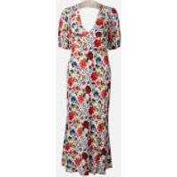 RIXO Women's Steph Midi Dress - White Floral - XS