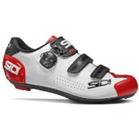 Sidi Alba 2 Road Shoes - EU 43 - White/Black/Red