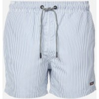 Superdry Men's Edit Swim Shorts - Blue Stripe - M