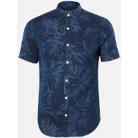Superdry Men's Miami Loom Box Fit Shirt - Miami Tropical Indigo - M