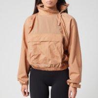 Reebok X Victoria Beckham Women's Woven Crew Jacket - Beige Stone - L