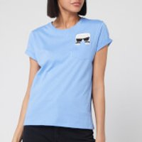 Karl Lagerfeld Women's Ikonik Karl Pocket T-Shirt - Light Blue - S