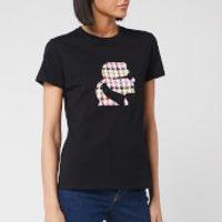 Karl Lagerfeld Women's Boucle Karl Head T-Shirt - Black - S