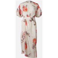 Preen By Thornton Bregazzi Women's Bianca Midi Dress - Furano Flower Fields - M
