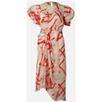 Preen By Thornton Bregazzi Women's Yoko Midi Dress - Ivory/Red - S