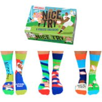 United Oddsocks Men's Nice Try Socks Gift Set - Nice Gifts