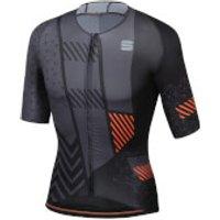 Sportful BodyFit Pro Bomber Jersey - L - Black/Anthracite