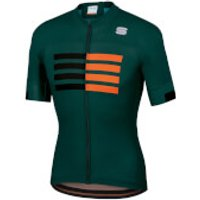 Sportful Wire Jersey - S - Sea Moss/Black/Orange SDR