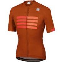 Sportful Wire Jersey - S - Sienna/Fire Red/Orange SDR