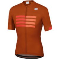 Sportful Wire Jersey - L - Sienna/Fire Red/Orange SDR