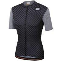 Sportful Checkmate Jersey - M - Black/Anthracite