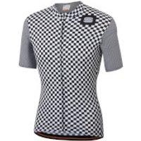 Sportful Checkmate Jersey - XL - White/Black