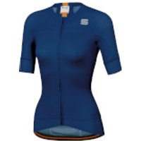 Sportful Women's BodyFit Evo Jersey - L - Blue Twilight/Gold