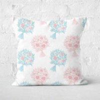 Bouquet Pattern Square Cushion - 50x50cm - Soft Touch - Bouquet Gifts