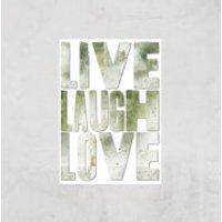 LIVE LAUGH LOVE Giclée Art Print - A4 - Print Only - Laugh Gifts