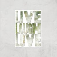 LIVE LAUGH LOVE Giclée Art Print - A3 - Print Only - Laugh Gifts