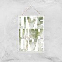 LIVE LAUGH LOVE Giclée Art Print - A3 - White Hanger - Laugh Gifts