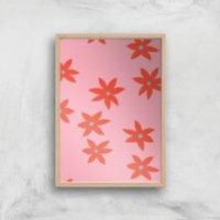 Blush Tone Flowers Giclée Art Print - A2 - Wooden Frame - Flowers Gifts