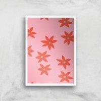 Blush Tone Flowers Giclée Art Print - A2 - White Frame - Flowers Gifts