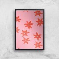 Blush Tone Flowers Giclée Art Print - A2 - Black Frame - Flowers Gifts