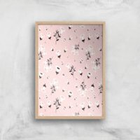 Blush Small Flowers Giclée Art Print - A4 - Wooden Frame - Flowers Gifts