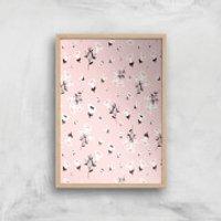 Blush Small Flowers Giclée Art Print - A2 - Wooden Frame - Flowers Gifts