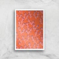 Funky Seaweed Giclée Art Print - A4 - White Frame - Funky Gifts