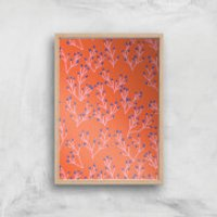 Funky Seaweed Giclée Art Print - A3 - Wooden Frame - Funky Gifts