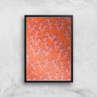 Funky Seaweed Giclée Art Print - A2 - Black Frame - Funky Gifts