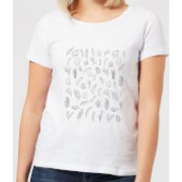 Monochrome Flowers Women's T-Shirt - White - XXL - White - Flowers Gifts