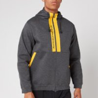 White Mountaineering Men's Logo Printed Contrasted Zip Up Hoodie - Charcoal - L