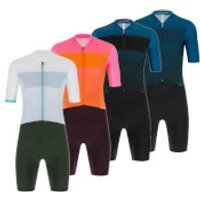 Santini Redux Fortuna Skin Suit - XL - Black