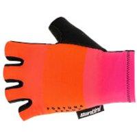 Santini Reduc Fortuna Aero Gloves - L - Atomic Orange