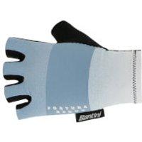 Santini Reduc Fortuna Aero Gloves - M - Silver Bullet