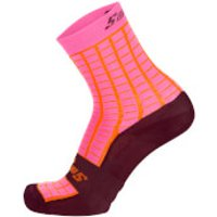 Santini Grido High Profile Socks - XS/S - Atomic Orange
