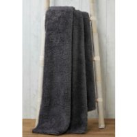 Rapport Teddy Throw - Charcoal - 130 x 180cm - Bedding Gifts