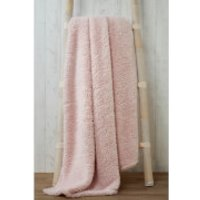 Rapport Teddy Throw - Pink - 130 x 180cm - Bedding Gifts